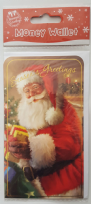 Seasons Greetings Santa Print Money Wallet
